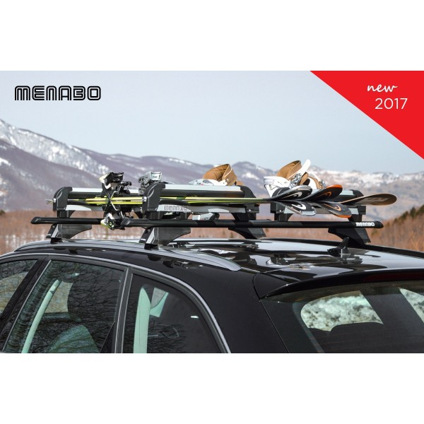 Menabo IceBerg Dubbel Ski en Snowboard houder voor 8 ski's